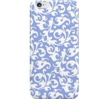 Pretty Blue and White Damask iPhone Case/Skin