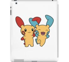 Plusle and Minun iPad Case/Skin