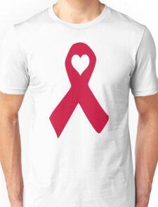 Aids ribbon heart Unisex T-Shirt