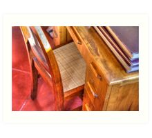 Taliesin West Desk in the Wright Bedroom Art Print