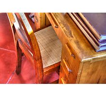 Taliesin West Desk in the Wright Bedroom Photographic Print