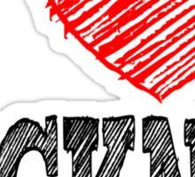 i love hackney Sticker