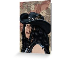 That Girl in the Black Hat Greeting Card