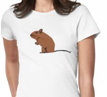 Small mouse Womens Fitted T-Shirt