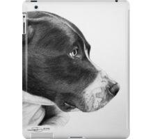 """Compassionate Gaze"" - Pit Bull mix Portrait iPad Case/Skin"