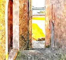 Agropoli: view door and alley by Giuseppe Cocco