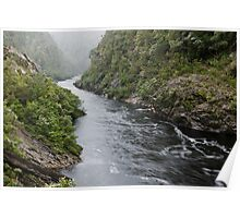 Franklin River in misty rain Poster
