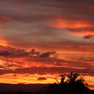 Sunset over the gold coast by Ben Kelly