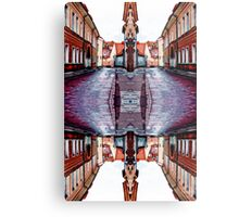 Old Town Street After Rain 4B Metal Print