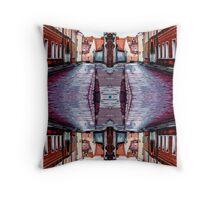 Old Town Street After Rain 4B Throw Pillow