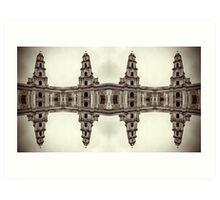 The clones of the church ruins sepia Art Print