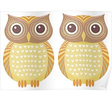 Twin Owls Poster