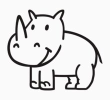 Comic rhino Kids Clothes