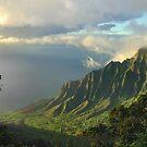 Kalalau Valley At Sunset by Stephen Vecchiotti