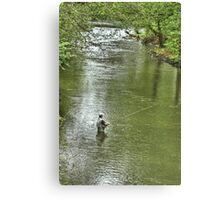 Angling for the Big One Canvas Print