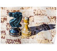 Chess Pawn and Knight - Veterans Poster