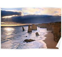 """The Twelve Apostles"" Sunset, Great Ocean Rd, Australia Poster"