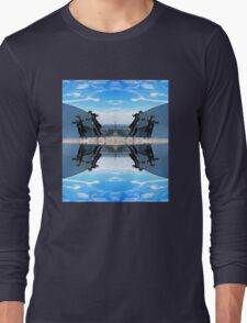 Jews in black can fly Color Long Sleeve T-Shirt