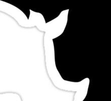 Rhino moon Sticker