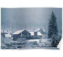 Snowing In Aspen  Poster