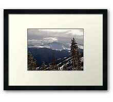 Clouds Over The Mountains Framed Print