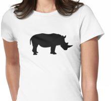 Black rhino Womens Fitted T-Shirt