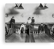 Arcade Bowling Alley, 1909 Canvas Print