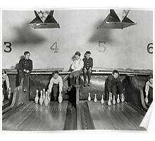 Arcade Bowling Alley, 1909 Poster