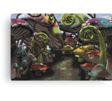 Wonderland Toadstool and Fern Forest Canvas Print