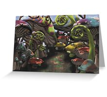 Wonderland Toadstool and Fern Forest Greeting Card