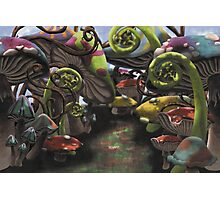 Wonderland Toadstool and Fern Forest Photographic Print
