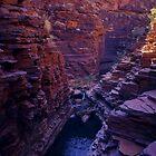Hancock Gorge - Karijini N. P. Western. Australia by Albert Sulzer
