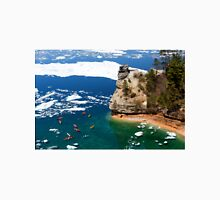 Kayaks and Ice Floes at Miners Castle - Pictured Rocks, Michigan Unisex T-Shirt