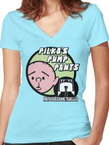 Karl Pilkington - Pilkos Pump Pants Women's Fitted V-Neck T-Shirt