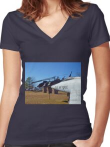Helos and Fighter Planes Women's Fitted V-Neck T-Shirt
