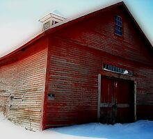 Abandoned Old Red Barn Athol MA by Rebecca Bryson