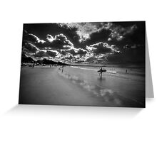 Black and White Interpretation Greeting Card