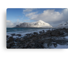 White, blue and grey Canvas Print