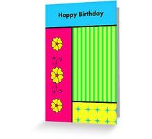 Colorful Birthday Card Greeting Card