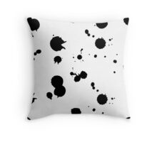 ink blots pattern black, white Throw Pillow