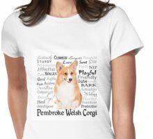 Corgi Traits Womens Fitted T-Shirt