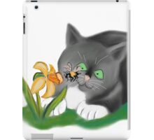 Bee, Daffodil and Grey Kitten iPad Case/Skin