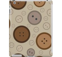 seamless brown  buttons pattern  iPad Case/Skin