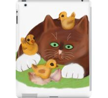 Tuxedo Kitten and Three Newly Hatched Chicks iPad Case/Skin