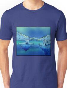 Polar Bears and the Northern Lights Unisex T-Shirt