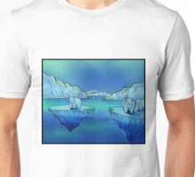 Polar Bears and the Northern Lights Unisex T-Shirt