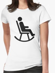 Rocking chair Womens Fitted T-Shirt