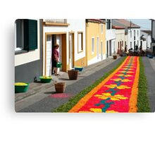 Making flower carpets Canvas Print