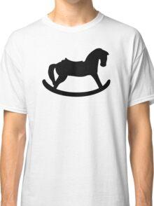 Black rocking horse Classic T-Shirt