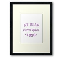 St Olaf Butter Queen Framed Print